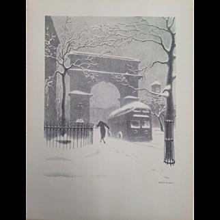 """Washington Arch in Snow"""