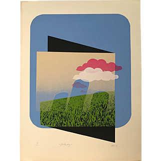 """""""Yesterday"""" Ed. 14/30. Color Lithograph by artist Pim"""