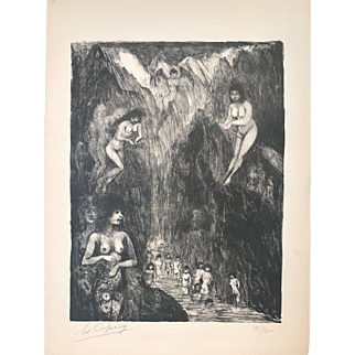 """""""Naked Witches"""" Ed. 181/200. Etching by Edouard Goerg"""