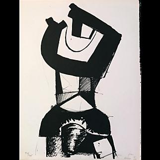 """Jean Helion Original Lithograph, """"Figure Dressée"""""""