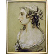 Profile Bust of a Young French Woman by Louis Rolland Trinquesse