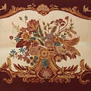 Vintage Needlepoint floral design