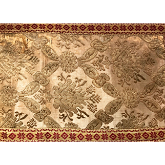 16th century Italian Silk Embroidery