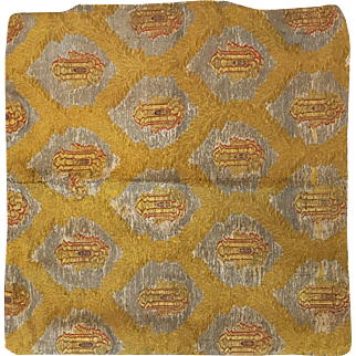 17th century Embroidered pillow case