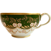 Bloor Derby Green and Gold tea cup, c.1820-40