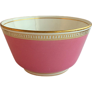 "6"" Pink and Gilt Minton Bowl, 19th century England"