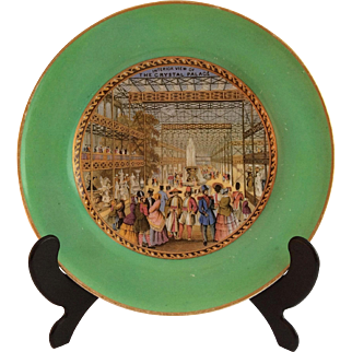 Prattware Porcelain Plate c.1851 depicting The Great Exhibition, Crystal Palace