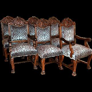 R. J. Horner (New York) Oak Carved Chair (6)
