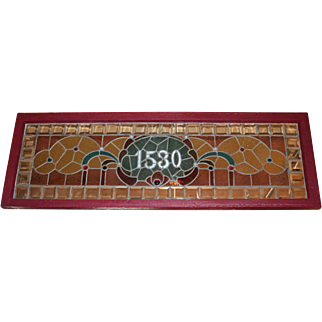 Stained Glass Victorian Window Chicago Address