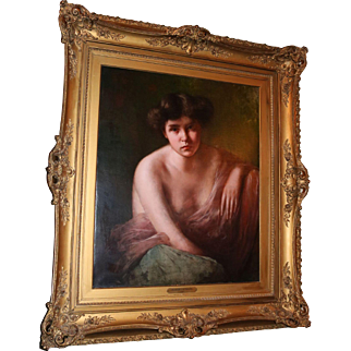 Oil on Canvas portrait of a woman by Robert Schade