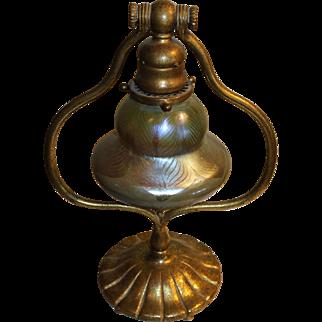 Tiffany Studios (New York) Gilt Bronze Harp Lamp
