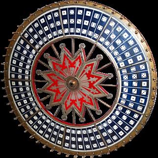 Large H.C. Evans Jumbo Dice Gambeling Wheel
