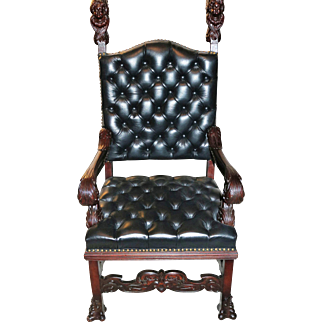 R. J. Horner Carved Mahogany King's Chair