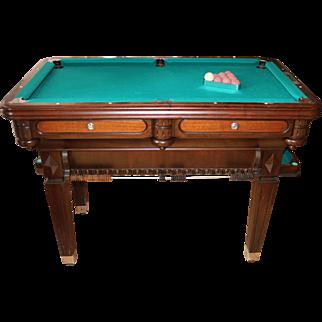 Miniature Billiard Table in Dark Walnut