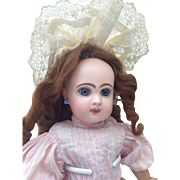 Pretty, Cabinet size, Bebe Jumeau, size 5, closed mouth.