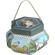 Charming French Antique Candy Container. Lovely Rare shape. Perfect for Fashion doll display.