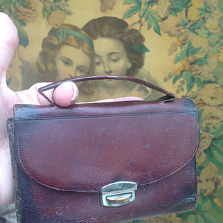 Antique French Etui (in attic condition) for Fashion Doll display.