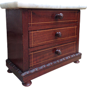 Lovely Miniature French Antique Commode for your French Fashion or small Bébé display.