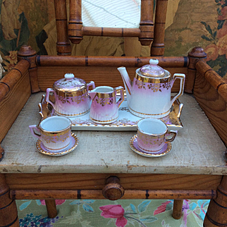 Miniature Antique Dolls Tea Set for your French Fashion or Bébé Jumeau, Steiner, Bru.