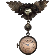 Unusual Vintage suspended watch for your larger French Fashion Doll or Bebe