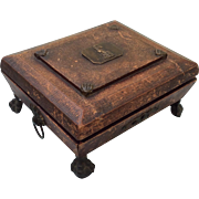 Fine Georgian sewing box with contents c.1830.
