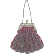 Lovely Antique Beaded Purse for your Bebe or large French Fashion Doll.