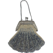 Pretty Antique Beaded purse for your French Bébé or larger French Fashion Doll.
