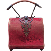 Beautiful, Antique, French Etui, Neccessaire for your French Fashion or Bebe or Mignonette.