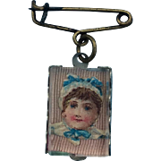 Antique Doll Pendant Brooch for your French Bebe.
