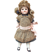 "All Original 3.5"" All Bisque Dolls House Doll with Glass Eyes."