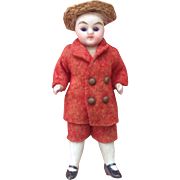 """All Original 3.5"""" All Bisque Dolls House Doll with Glass Eyes."""