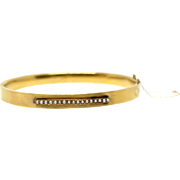 Antique 14k yellow gold Bangle featuring seed pearls early 1900-1910 bracelet vintage