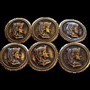 Egyptian Pharoh vintage buttons