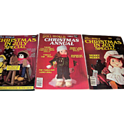 Doll World l983 Christmas Annual, l983 Christmas in July Special and l984 Christmas in July Special