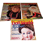 Doll World Issues from August, October, and December, l994