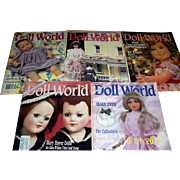 Doll World Issues from l989, February, April, June, October and December.