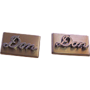 Personalized cufflinks with the name  Don