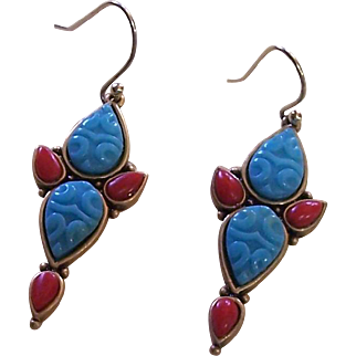 Earrings with ornate back