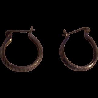 Sterling Silver Earrings marked LOKI
