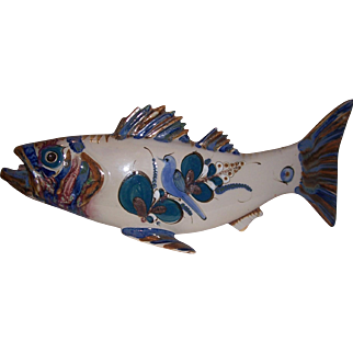 Herman Bangeman 1985 Mexican Fish in Blue and White Colors