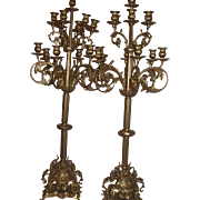 Imperial Brass Candelabras from Italy