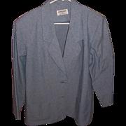 Alfred Dunner Vintage Ladies Blue Denim Blazer