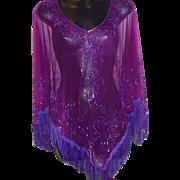 Purple Beaded Top by Krishma