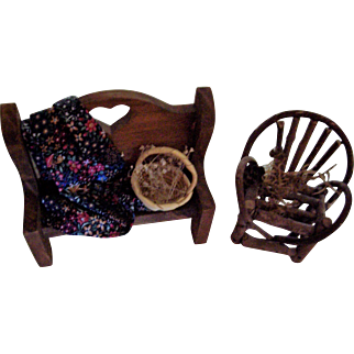 Minature Doll House Chair and Bench