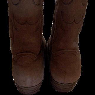 Vintage Ladies Cowgirl Caramel Brown Boots