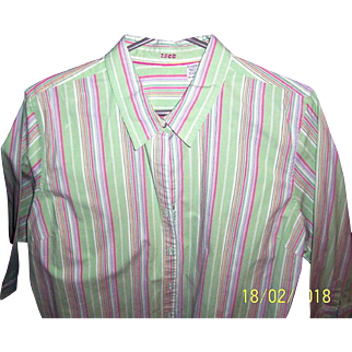 IZOD Ladies Striped Shirt from the Early Nineties