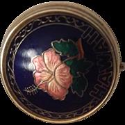 Round enamel pill box