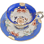 Antique Samuel Alcock coffeecup, ca 1835 Rococo Revival