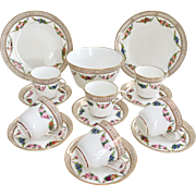 Beautiful Mid-Victorian tea set for six, Brown-Westhead & Moore, 1872