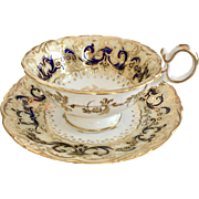"Antique Coalport teacup, ""Phoenix"" patt 4/375 on Adelaide shape, ca 1840 A/F"